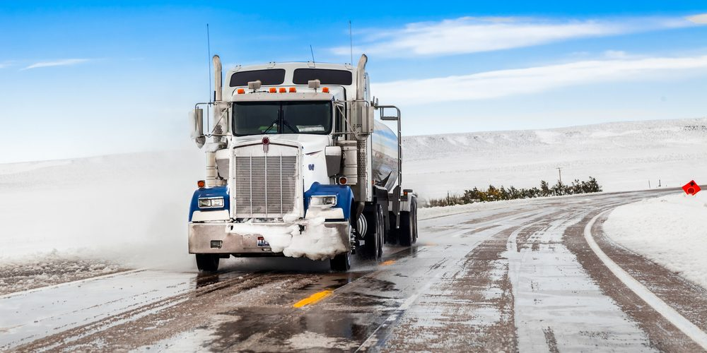 tips for driving in winter on semi truck tires