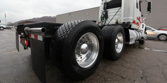 Trucking tire wear and tear